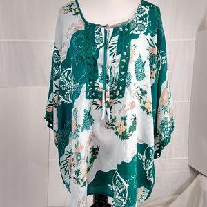 DENIM 24/7 Colorful Lagoon Print Tunic Size 24W
